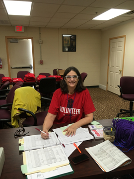 You may recognize long-time volunteer Linda Gilbert, only this time, she's volunteering her way along the Fringe circuit, which has just begun in Orlando!