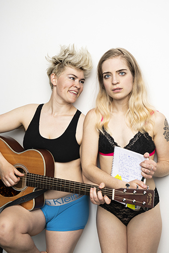 Sara Vickruck and Anaïs West's Fringe New Play Prize-winning play Poly Queer Love Ballad will be coming very soon!